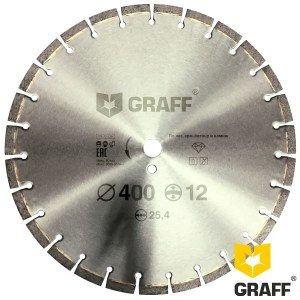 Алмазный диск по армированному бетону 400 мм