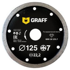 Алмазный диск по керамической плитке 125х7 с увеличенным сегментом
