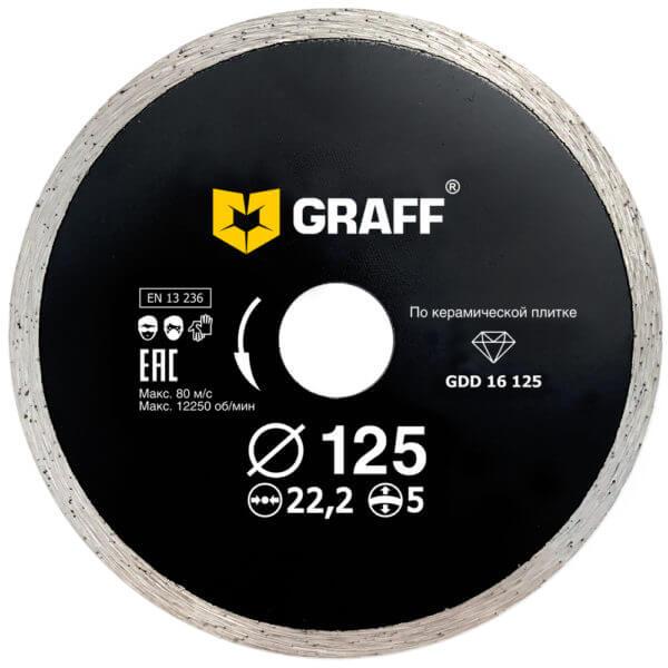 Алмазный диск по керамической плитке 125х5