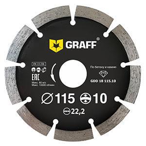 Алмазный диск по бетону и камню 115х10 с увеличенным сегментом