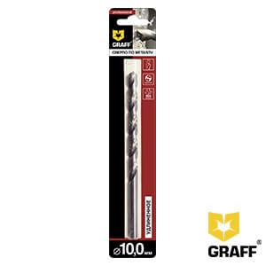 Сверло по металлу удлиненные 10,0 мм GRAFF, в блистере