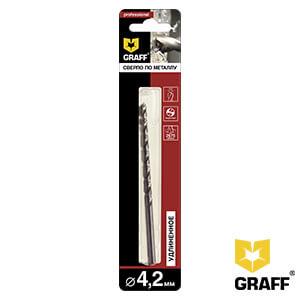 Сверло по металлу удлиненные 4,2 мм GRAFF, в блистере