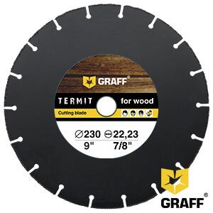 Отрезной диск по дереву для болгарки (УШМ) 230x22,23 мм GRAFF Termit
