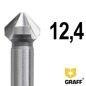 Зенкер по металлу д.12,4 мм Expert GRAFF, в пласт. коробке
