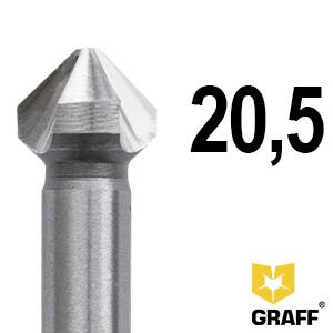 Зенкер по металлу д.20,5 мм Expert GRAFF, в пласт. коробке