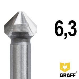 Зенкер по металлу д.6,3 мм Expert GRAFF, в пласт. коробке
