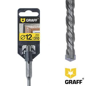 Сверло по бетону 12×250×310 SDS-plus GRAFF