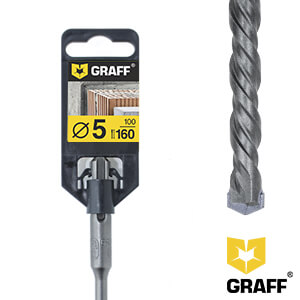Сверло по бетону 5×100×160 SDS-plus GRAFF