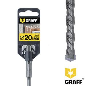 Сверло по бетону 20×440×500 SDS-plus GRAFF