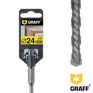 Сверло по бетону 24×440×500 SDS-plus GRAFF