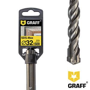 Сверло по бетону 32×370×500 SDS-max GRAFF