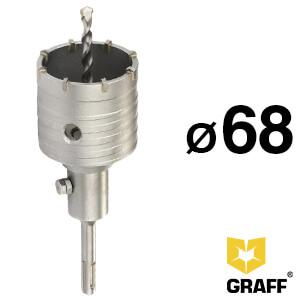 Коронка по бетону Ø 68 мм SDS-plus GRAFF c центр.сверлом 110 мм