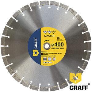 Алмазный диск по бетону и камню 400x15x3,0x25,4/20 мм Master GRAFF