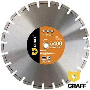 Алмазный диск по асфальту 400x10х3,0х25,4/20 мм Expert GRAFF