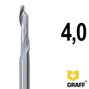 Фреза концевая по алюминию и пластику 4x16/45x90x8 мм однозаходная HSS M35 удлиненная GRAFF