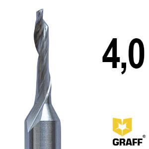 Фреза концевая по алюминию и пластику 4x18x60x8 мм однозаходная HSS M35 GRAFF