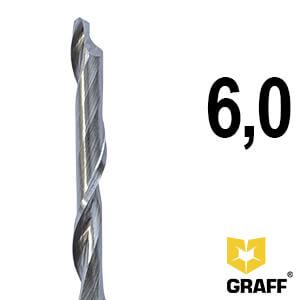 Фреза концевая по алюминию и пластику 6x45/70x100x8 мм однозаходная HSS M35 удлиненная GRAFF