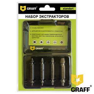 Набор экстракторов из 4 штук GRAFF