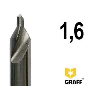 Сверло по металлу центровочное 1,6 мм Р6М5 GRAFF