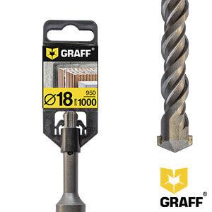Сверло (бур) по бетону 18x950x1000 мм GRAFF для перфоратора SDS plus