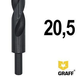 Сверло по металлу с обточенным хвостовиком 20,5 мм HSS GRAFF