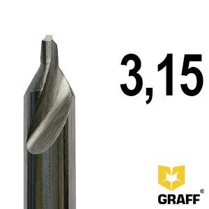 Сверло по металлу центровочное 3,15 мм Р6М5 GRAFF