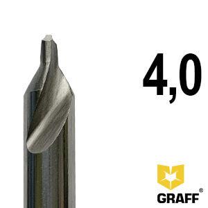 Сверло по металлу центровочное 4,0 мм Р6М5 GRAFF
