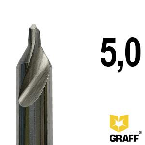 Сверло по металлу центровочное 5,0 мм Р6М5 GRAFF
