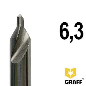 Сверло по металлу центровочное 6,3 мм Р6М5 GRAFF