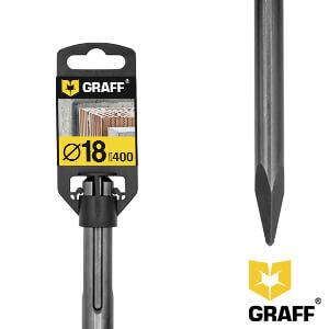 Зубило пикообразное 18х400 мм SDS-plus GRAFF