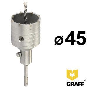 Коронка по бетону 45 мм SDS-plus GRAFF